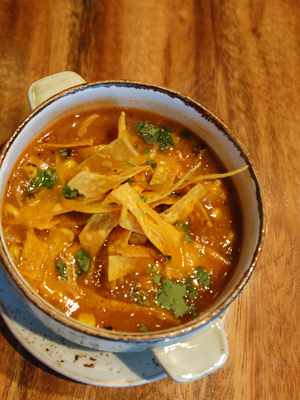Torre's tortilla soup features the bold flavors and fresh ingredients of modern Mexican cuisine